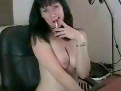 Sexy body dark haired MILF whore