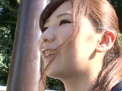 Lovely Mikuru gets loads of cum on her pretty little face