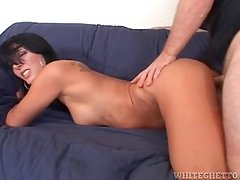 Milf in heels models perky tits and rides dick
