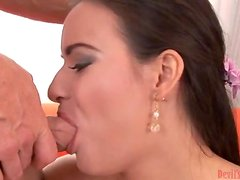 Squirt On My Big White Cock With a Creampie