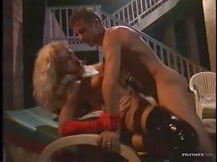 Hot Euro group sex with a double penetration