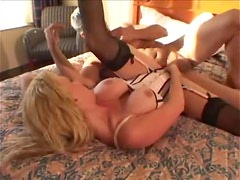 Milf in a sexy corset plowed by hard cock