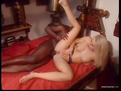 Interracial anal with a glamorous blonde