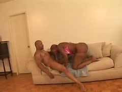 Big meat nails the black fuck slut in the bottom