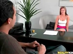 First timer gets her ass measured and masturbates