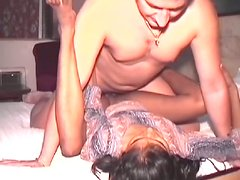 Awesome missionary position fuck with sexy Indian slut