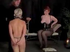 Hot bondage for a kinky mature lady in nylons