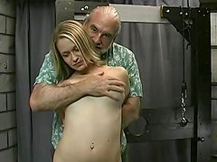 Innocent blonde being fucked and humiliated