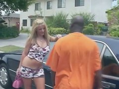 Picked up street whore Sophie Dee serves BBC