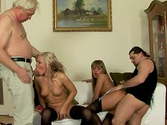 Hussy Cristal May taking part in steamy 4some orgy