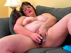 She is fat and horny for toy sex