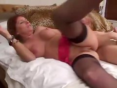 Busty mom is a redhead in need of cock