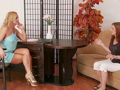 MILF porn actress Silvia Saint is trying to pass casting