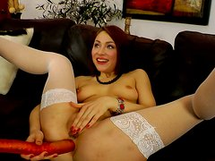 Macy getting her anus toyed and pussy licked
