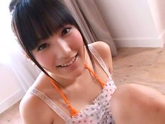 Lascivious teen Yuri Hamada has a bikini that is too small for her