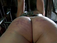 Full bodies Dana Vixen in red shoes is tortured in BDSM video