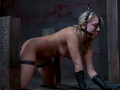 Dirty BDSM lover Sophie Ryan serves her pussy to her master