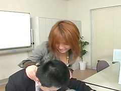 Sextractive Arisa Minami flirting with her boss