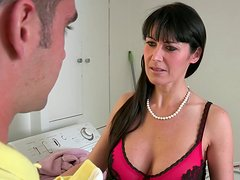 Gorgeous black haired babes are always for sucking a stiff cock