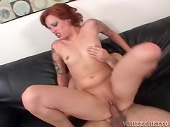 Small boobs girl with tattoos fucked in the vagina