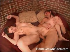 Erotic foreplay with a couple that has great sex