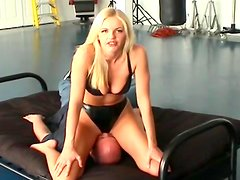 Blonde is sitting on the face of her perverted friend
