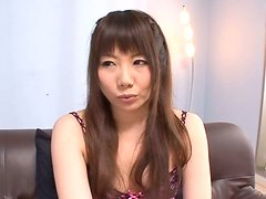 Beautiful Nanako Yoshimoto Masturbates while The Guy Jerks Off