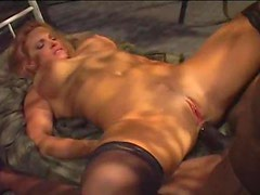 Black cock invades the pierced girl