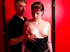 Horny as hell babe is demonstrating her naked body