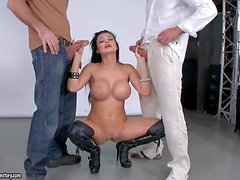 Experienced black haired porn queen Aleta Ocean with perfect body