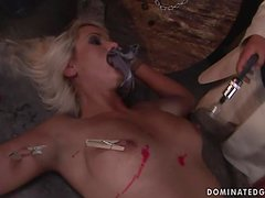 Rough BDSM video with stunning Avril getting fucked