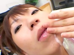 3 Sensuous Oriental females cocksucking ram rods and having A lot of funtime not far from semen