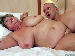Margitta is a fat sex obsessed granny with massive tits.
