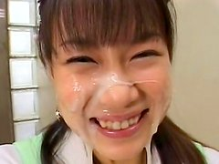 Perverted babe from Japan loves cum so much