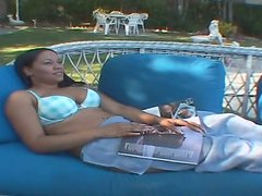 Hefty black mom Bonita Butterfly is having passionate sex outdoor