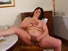 Hairy pussy of  Chubby Wife is the nastiest you can get