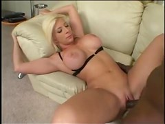 Horny girl with big boobs takes a cock
