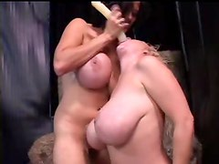 Colossal boobs on lezzy lovers