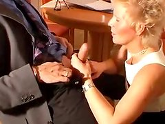Blonde mom Vieille blows before getting her ass fucked from behind
