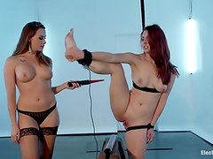Involving the mercury switch onto her ankle, Melody Jordan discovers that she's in for A shock from Chanel Preston, no matter what she does!
