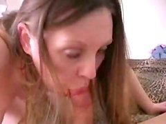 Golden-Haired Wife Gives Head