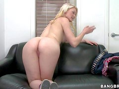 Young looking adorable steaming hot blonde goddess Zoey Page with