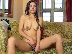 Attractive long haired brunette beauty Chelsie French with nice natural