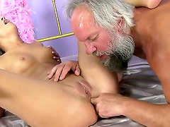 Amirah Adara gets nailed hard by older hunk who loves feeling her young pussy