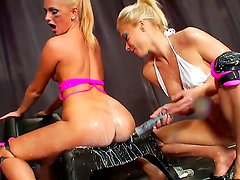 Hardcore and crazy action with gorgeous milf named Dulsineya and Ivana Sugar