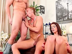 Amazing threesome action with bisexuals named Alex Monetti, Denis Reed and Kristine Crystalis