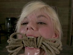 Alice Frost actually enjoys when her tits are tied hard