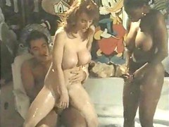 Cicciolina, Rocco Sifreddi and Busty Belle bang in the bathroom