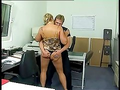 Chunky German cougar ass-fucked in the office (Sid69)