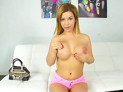 Check out with fascinating and impudent blonde amateur Bibi Noel and her juicy melon tits